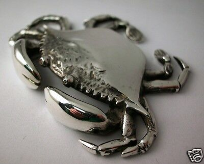 """S. KIRK & SON SOLID CAST STERLING MINIATURE """"ENGARDE CRAB"""" 3.13 Troy oz."""