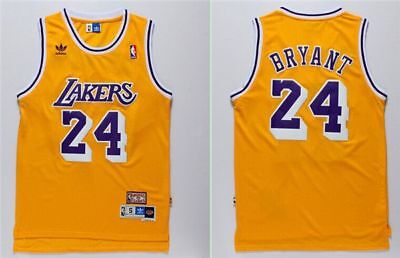 Los Angeles Lakers Kobe Bryant #24 men's yellow jersey S-2XL