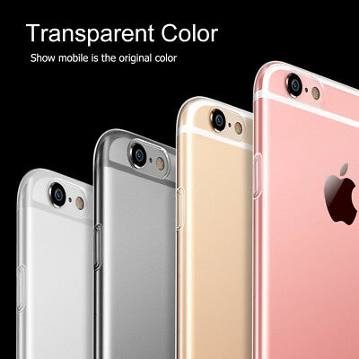 New Crystal Clear Case Soft TPU Protective Cover for iPhone X / 8 / 7 /6/6s Plus