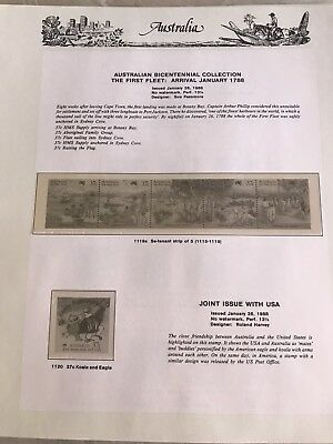 Australia 1988 Seven Seas Hingeless 9 Pages - No Stamps