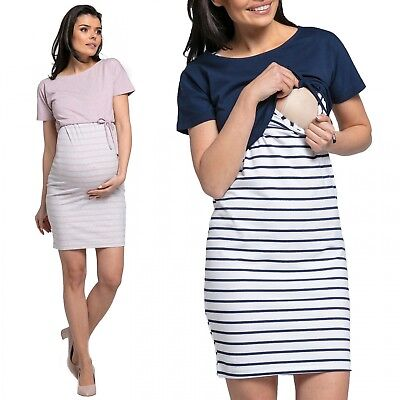 Happy Mama Women's Nursing Two Piece Dress Separate Top Pregnancy. 127p