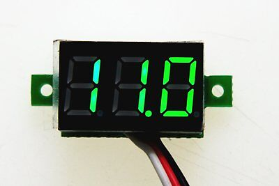 DC0-30V green LED display digital Mini voltage meter LED Panel  2 wire autobike