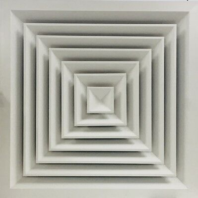 4-Way Louvre Face Diffuser 595x595 Ceiling Tile Replacement *Supply/Extract*