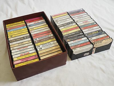 Large Lot Of 74 Vintage Music Cassette Tapes Mixed Easy Listening