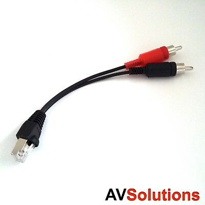 RJ45 PowerLink to Non-Bang & Olufsen B&O RCA Adaptor Cable (HQ, 150 mm)
