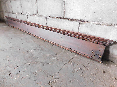 Antique Door Pediment Lintel Crown Molding - C. 1890 Oak Architectural Salvage