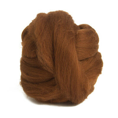 100g Dyed Merino Wool Top Hazelnut Brown Dreads Needle Spinning Felting Roving