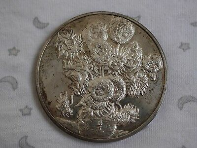 1888 Sun Flower Van Gogh Sterling Silver Medal - 50mm - 64g (Pinches-London)