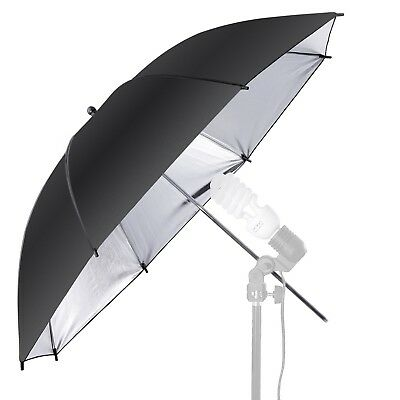 "36""/91cm Photo Studio Black & Silver Reflective Lighting Umbrella Flash Light"
