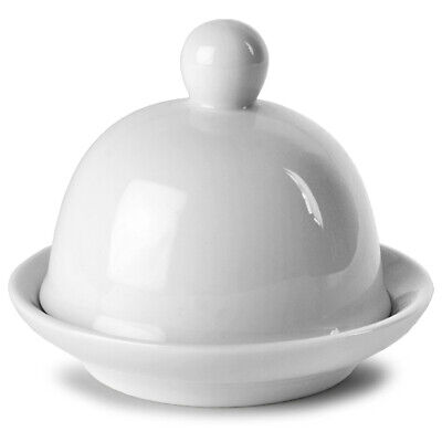 Moonlight Round Covered Butter Dish 9 x 6.5cm - Pack of 6 | Butter Pat