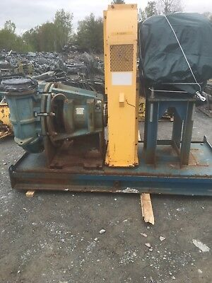 "RX-3627, METSO HM250 FHC-D 10"" x 8"" SLURRY PUMP W/ 50HP MOTOR AND FRAME"