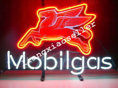 Mobil Gas Mobilgas Pegasus Flying Horse Gasoline Motor Auto Car Real Neon Sign