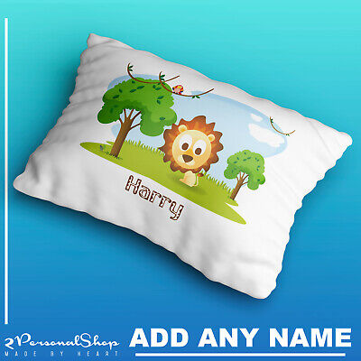 Personalised Cute Safari Animals Pillow Case Cushion Cover Custom Made Print 106