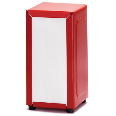 Red Stainless Steel Napkin Dispenser - Tablecraft Serviette Dispenser