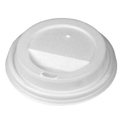 Disposable Coffee Cup Sip Lids White for 12oz Coffee Cups - Set of 100