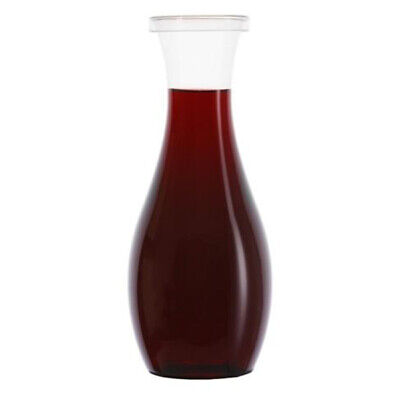Shatterproof Plastic Wine Carafe with Lid 800ml - Set of 24 - Recyclable PET