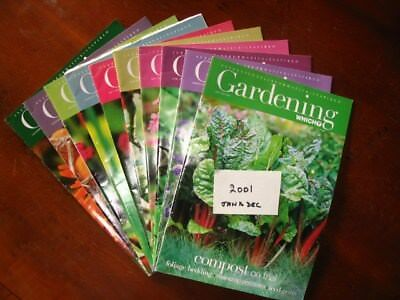 2001 Full Year Which Gardening January – December, all preloved used once only.