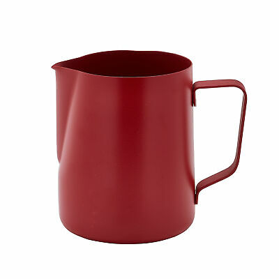 Non-Stick Frothing Jug Red 600ml - Milk Frother Jug for Barista Coffee Service