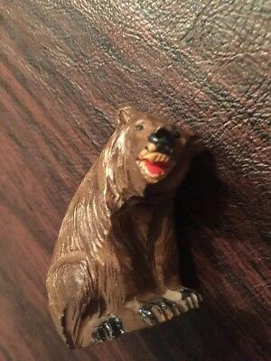Vintage Hand Carved Solid Wood Grizzly? Brown Bear