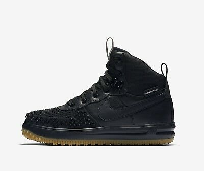 more photos 59c74 a3581 Nike Lunar Force 1 Duckboot (GS) 882842-001 Black Gum Water Shield Boy s
