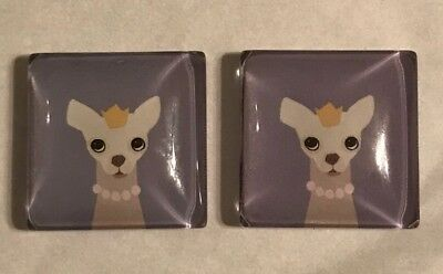 Chihuahua Magnets Set Of 2 Very Cute And Hard To Find