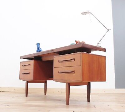 Retro 60-70s Teak G Plan Floating Top Desk, FREE LONDON DELIVERY