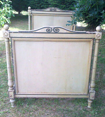 ORIGINAL ANTIQUE FRENCH PAINTED DAYBED - DIRECTOIRE c. Early 19th C.