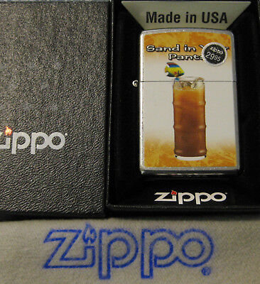 ZIPPO DRINK SERIES Lighter SAND IN YOUR PANTS New Old Stock VODKA RECIPE ON BACK