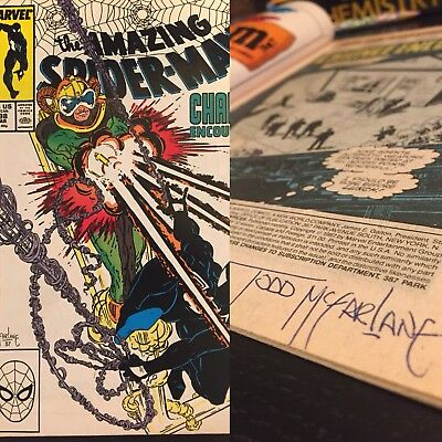 SIGNED Amazing Spiderman 298 TODD MCFARLANE First Appearance of Venom
