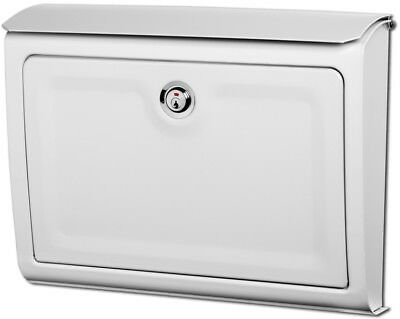 Architectural Mailboxes Whitman 14-in W x 10.7-in H Metal White Lockable Wall