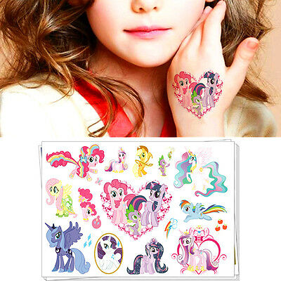 My Little Pony Flash Tattoo Sticker Temporary Body Art Toys Decoration Decals