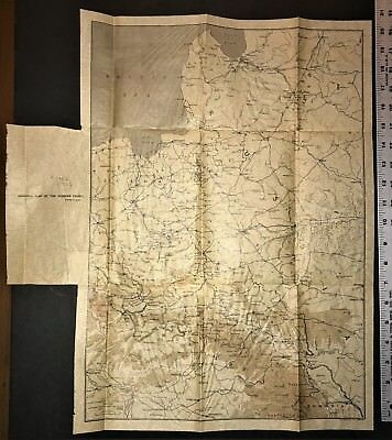 """World War 1 MAP  """"GENERAL MAP of the RUSSIAN FRONT""""  WW1 Antique WWI Rare"""