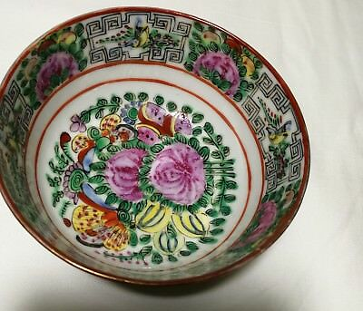 Chinese  export hand painted Famille Rose porcelain small bowl Dia9.5cm