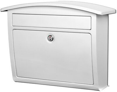 Architectural Mailboxes Dal Rae 16.4-in W x 13-in H Metal White Lockable Wall
