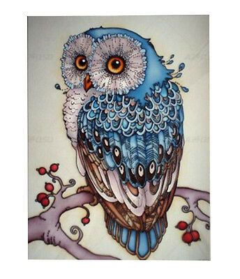 DIY 5D Diamond Embroidery Painting Craft Owl Cross Stitch Kits Home Decor.UK