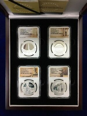 PF 70 ULTRA CAMEO NGC Graded America's National Monuments 2015 Niue 4 Piece Set