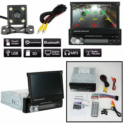 "1 DIN Single 7"" HD Touch Screen Car MP5 Player Support FM/USB/TF/AUX 9601+Camera"