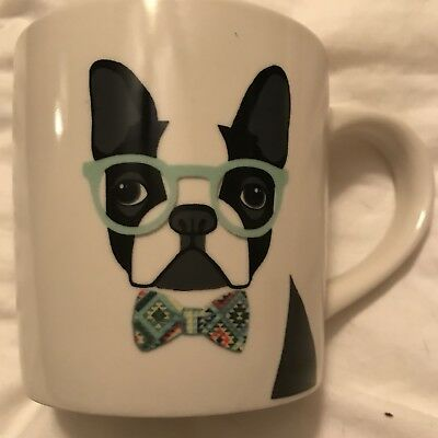 BOSTON TERRIER Coffee Mug Coffee Cup Large Boston Terrier Wearing A Bow Tie