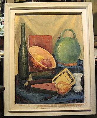 Extremely Rare Painting By Fritz Abplanalp , Oil , 1958 , Signed , Dated,  # 6