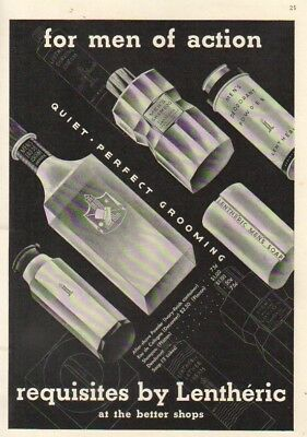 1938 Lentheric Men's After Shave Cologne Shampoo Ad