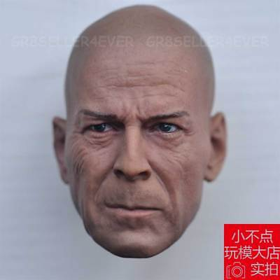 1/6 head sculpt Bruce Willis Die Hard GI Joe Retaliation Normall Version