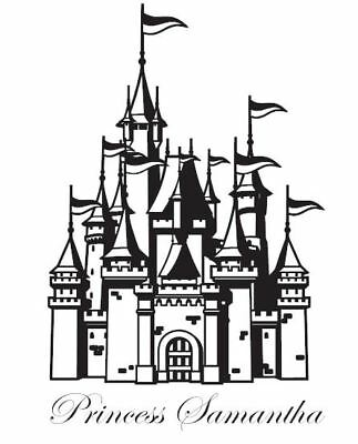 Custom Castle with Name Vinyl Wall Art Decal