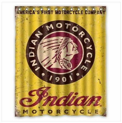 Indian Motorcycle Custom Shower Curtain