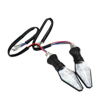 2x 12V Clear Lens Supper Motorcycle Turn Signal Lights 9 LED Indicator Red F4R3