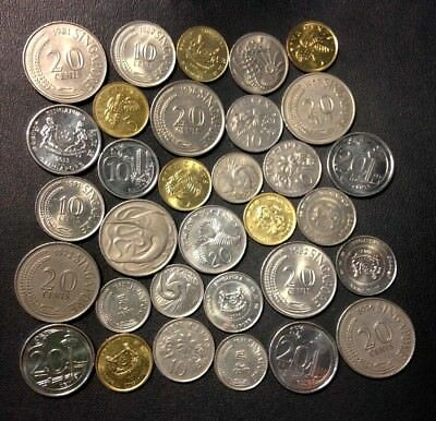 Old Singapore Coin Lot - 32 Excellent Exotic Coins - Lot #M10