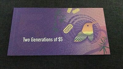 2 Generations Of $5 Folders Five Dollars Notes