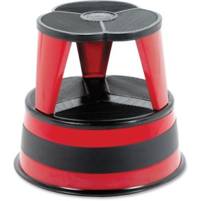 Cra100143 United Stationers C-Rolling Step Stool Red 1