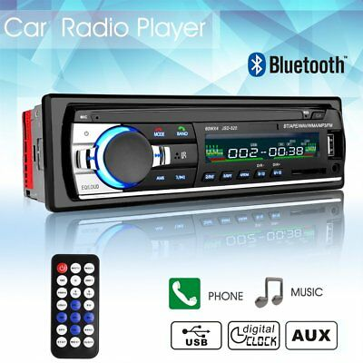 Bluetooth Car Stereo Audio In-Dash Fm Lettore Mp3 Radio Con Aux-In Sd Usb 12V