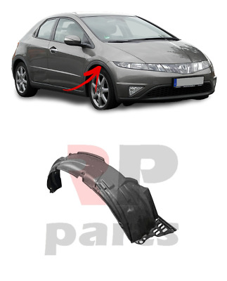 For Honda Civic Hatchback 06-11 Front Right N/s Wheel Arch Trim Cover Plastic