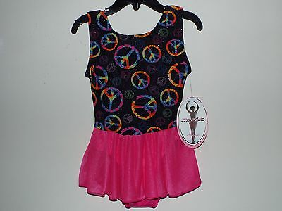 Jacques Moret Girls Tank Skirtall Dance Multi-Color Nylon L 12/14 New With Tags